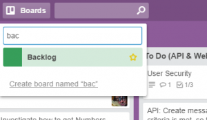 change trello board